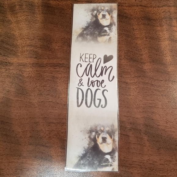 💖2/$15 💖  keep calm love dogs bookmark